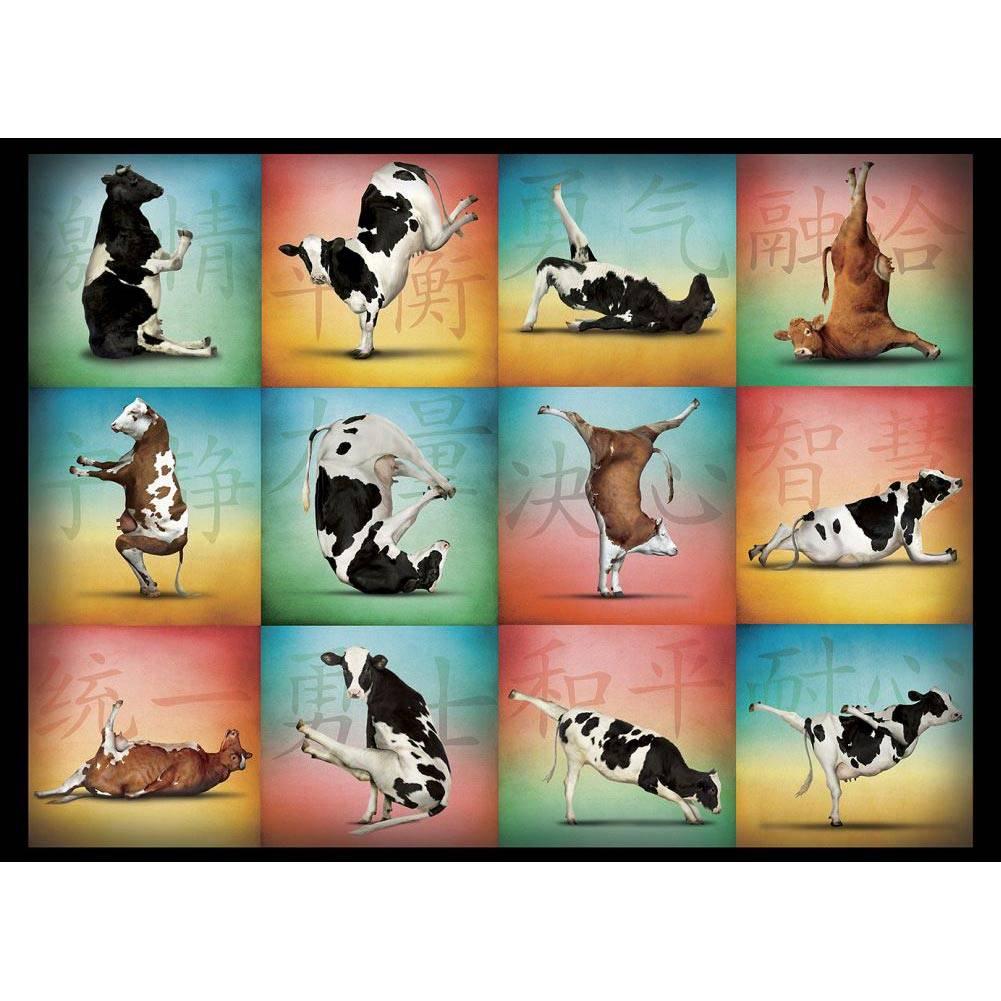 Cow Yoga 1000 Piece Puzzle