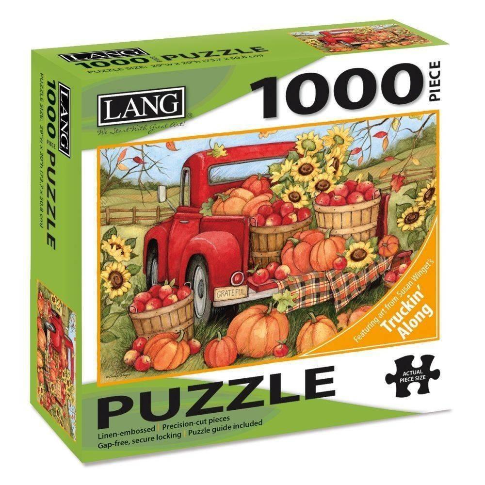 Harvest Truck 1000 Piece Puzzle by Susan Winget
