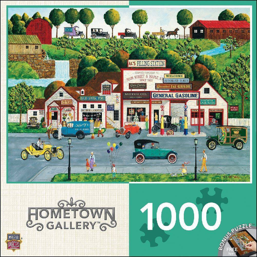 Hometown Gallery - The Old Filling Station Puzzle 1000 Piece Puzzle