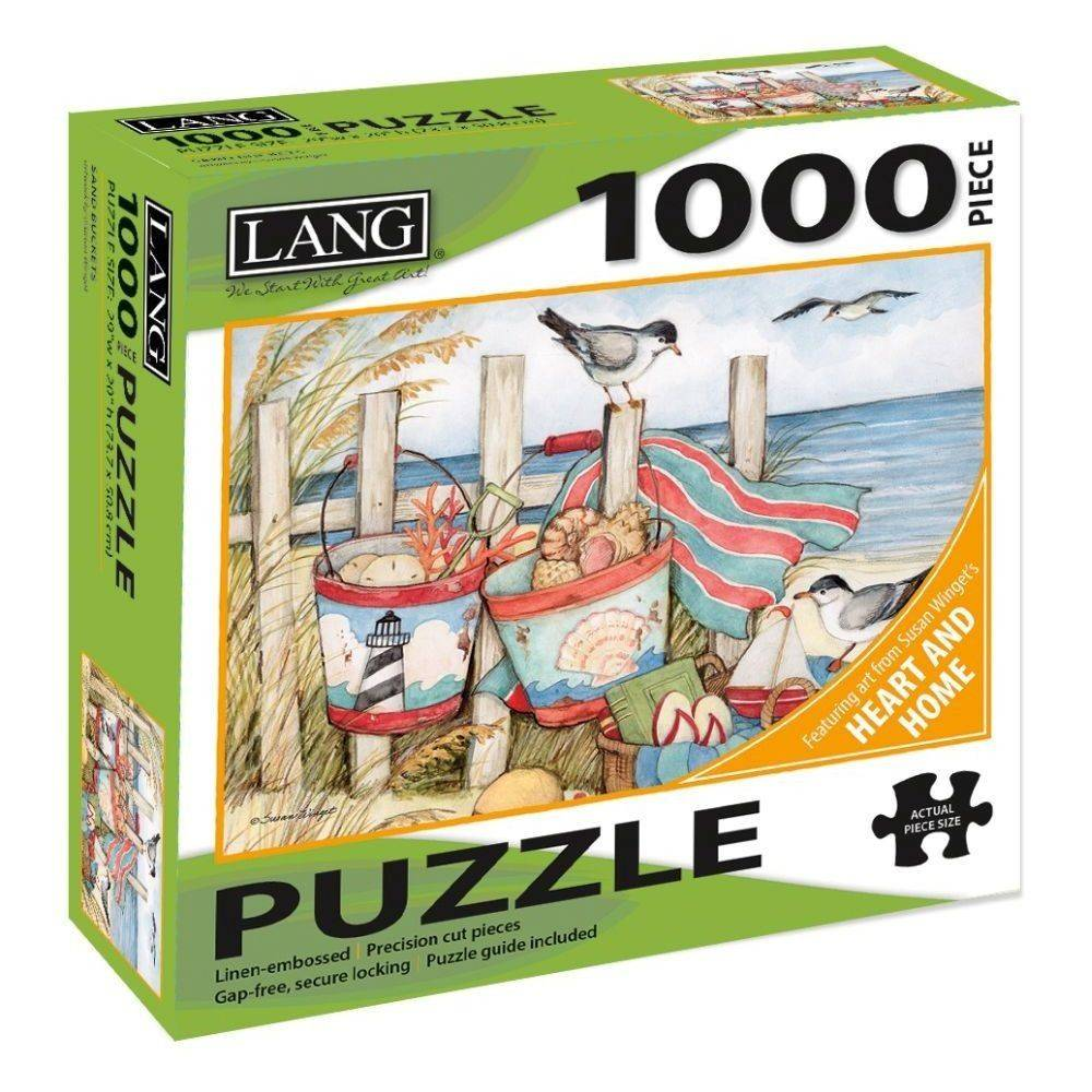 Sand Buckets 1000 Piece Puzzle by Susan Winget