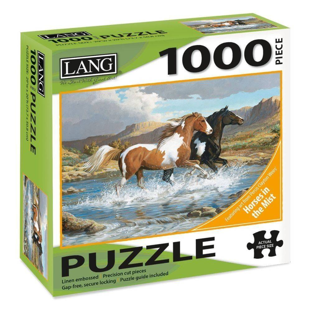 Stream Canter 1000 Piece Puzzle by Persis Clayton Weirs